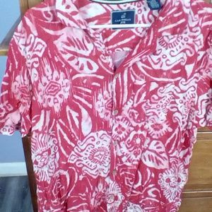 Men's Caribbean Joe Hawaiian Shirt  Size L